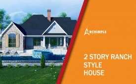 2 story ranch style house