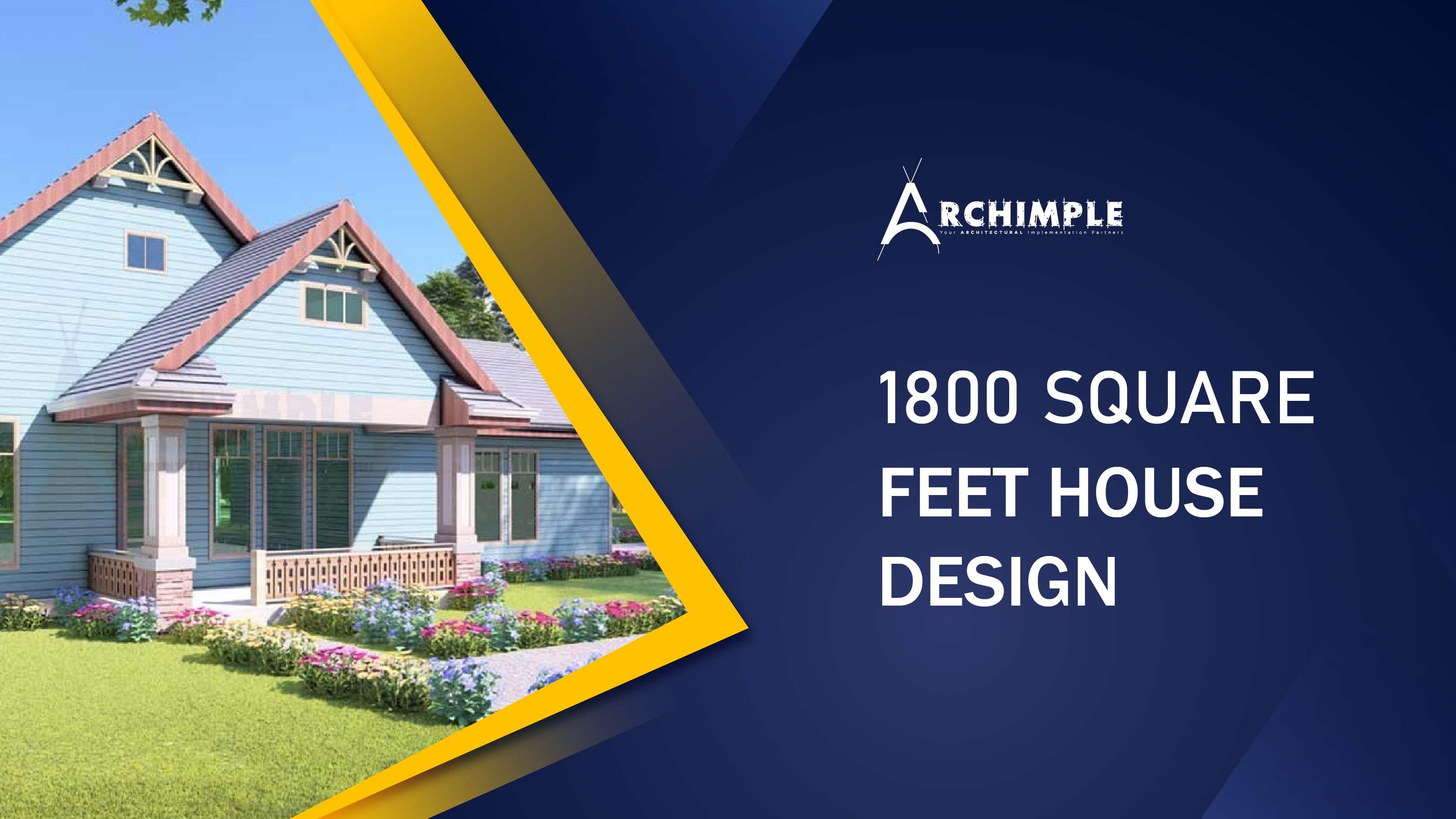 1800 Square Feet House Design