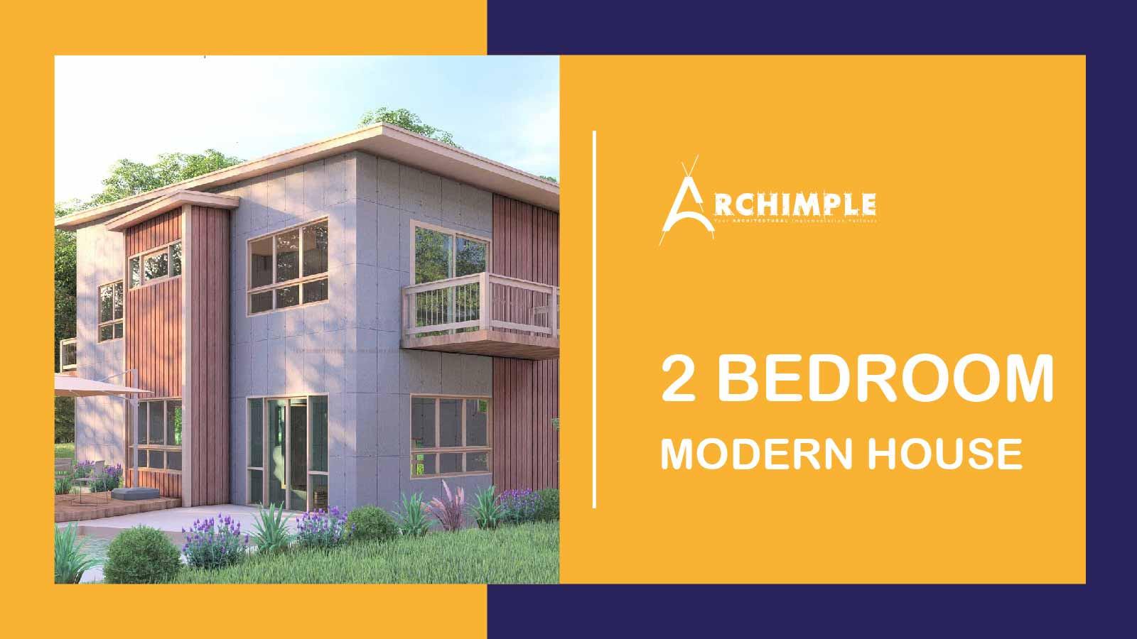 2 Bedroom Modern House Plans
