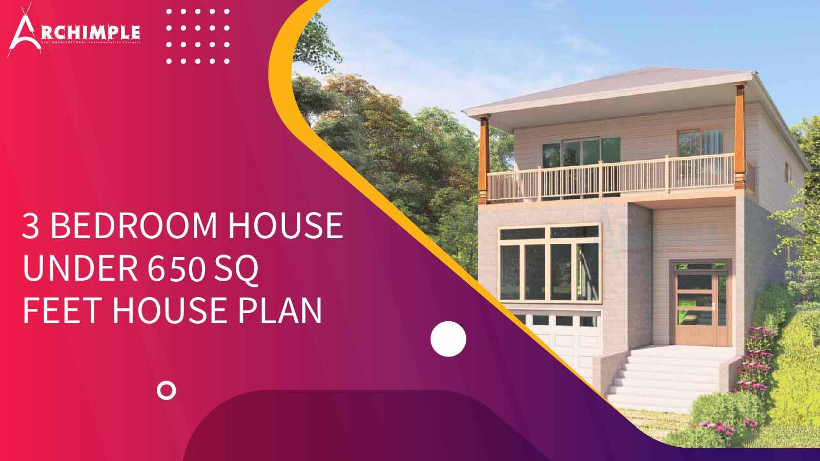 650 Square Feet House Plan