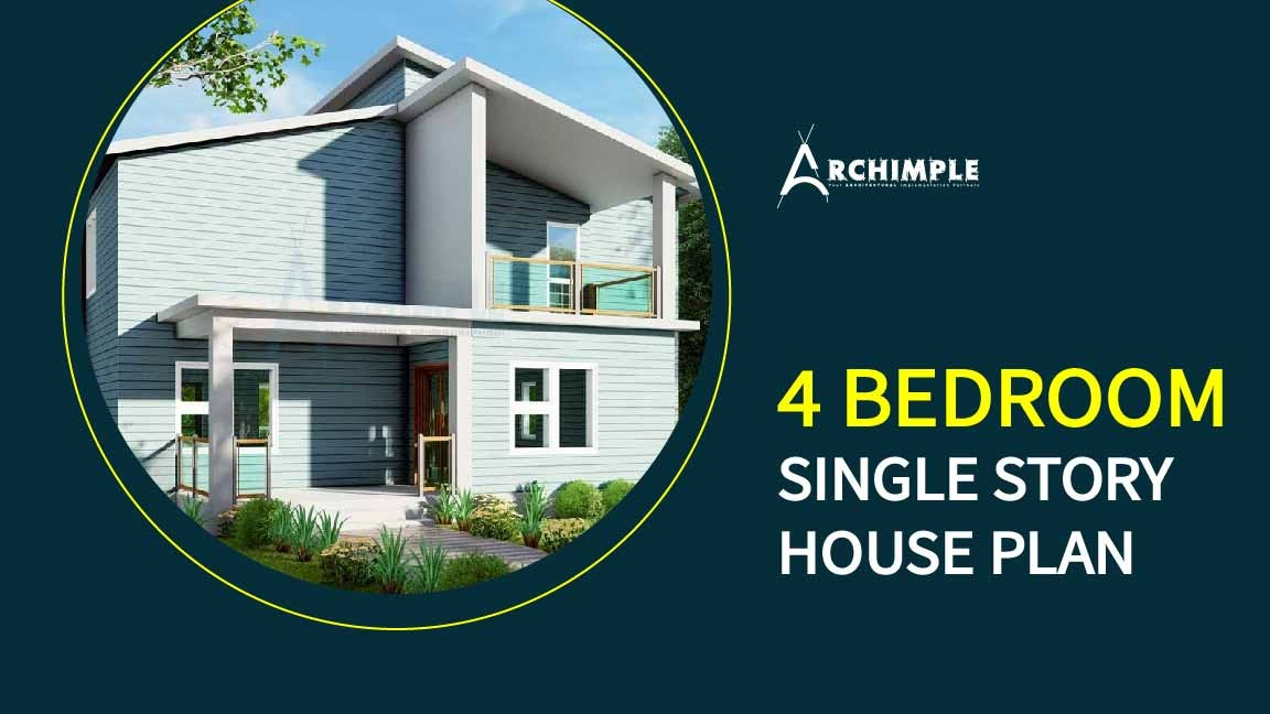 4 bedroom single story house plans
